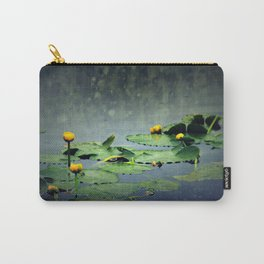 lily pads in the rain at Vernonia Lake Carry-All Pouch