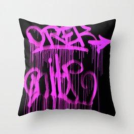 Puke Pink Throw Pillow