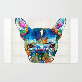 Colorful French Bulldog Dog Art By Sharon Cummings Rug
