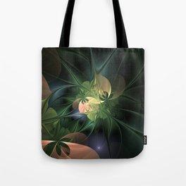 Fractal Floral Fantasy Tote Bag