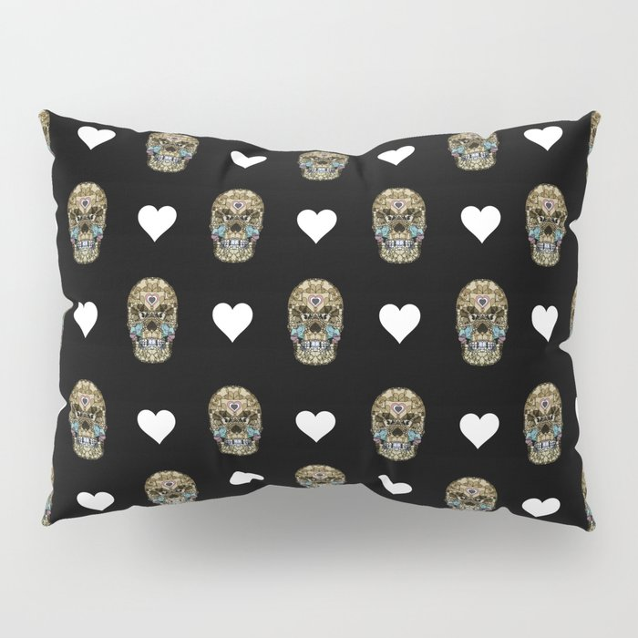 Say It with Skull and Hearts Pillow Sham