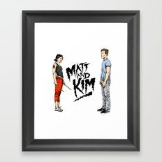 Matt and Kim Framed Art Print