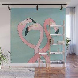 Flamingo Flamingo Flamingo Wall Mural