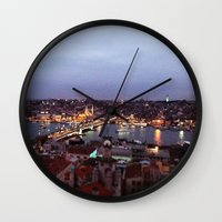 istanbul Wall Clocks featuring Istanbul by lizzy gray kitchens