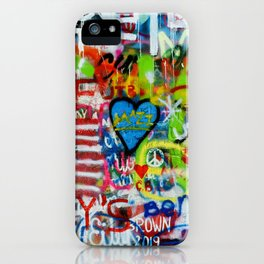 All you need is love, wall. iPhone Case