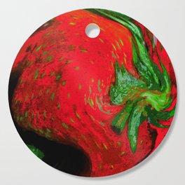 Strawberry Fruit Art Deco Cutting Board