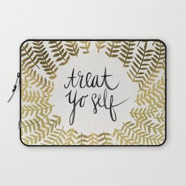 Treat Yo Self – Gold Laptop Sleeve