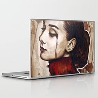 audrey Laptop & iPad Skins featuring Audrey  by Olechka