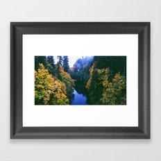 River Meets Fall Framed Art Print