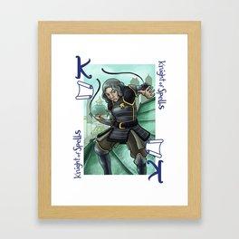 Knight of Spells Framed Art Print