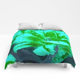 seafoam green tulips Comforters