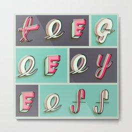 Tee-Gee-Eye-Eff Metal Print