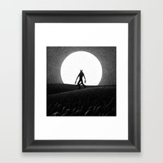 Drawlloween 2016: Werewolf Framed Art Print