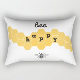 Bee Happy Rectangular Pillow