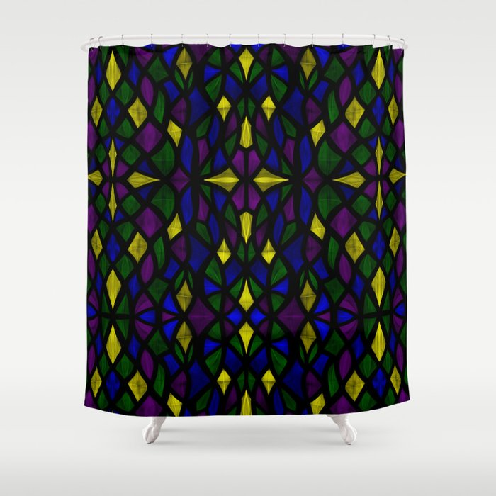 Stained Glass Scales Shower Curtain
