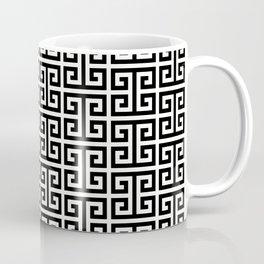 Black and White Greek Key Pattern Coffee Mug