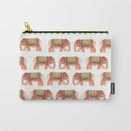 Wooden Elephant Carry-All Pouch