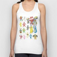 power rangers Tank Tops featuring Mighty Melty Power Rangers by Josh Ln