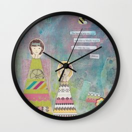 The Hardest Step She Ever Took Wall Clock