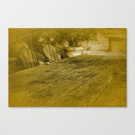 Picnic Table Canvas Print