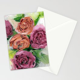 Peachy Keen Spring Floral Bouquet Stationery Cards