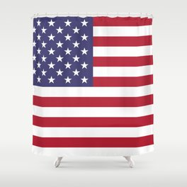 USA flag - Hi Def Authentic color & scale image Shower Curtain