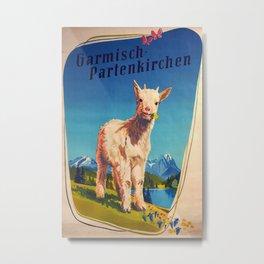 Garmisch-Partenkirchen Vintage Travel Poster Metal Print