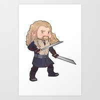 fili Art Prints featuring fili by Ronnie