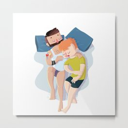 Sweet dreams - man+man Metal Print