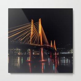 Tilikum Crossing Flooded with Light Metal Print
