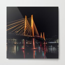 Tilikum Crossing Flooded with Light Metal Print