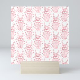 Beetles in Pink Mini Art Print