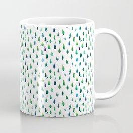 Blue water drops watercolor Coffee Mug