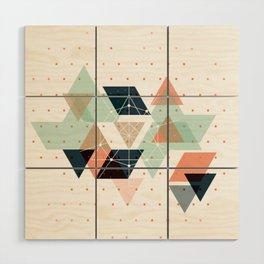 Midcentury geometric abstract nr 011 Wood Wall Art