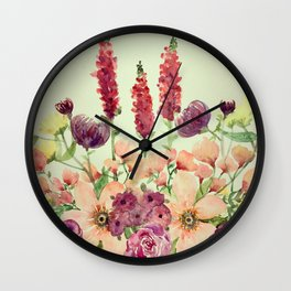 Floral Field Wall Clock