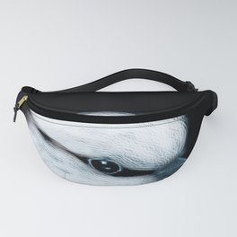 White Bird Black Background #decor #society6 #buyart Fanny Pack
