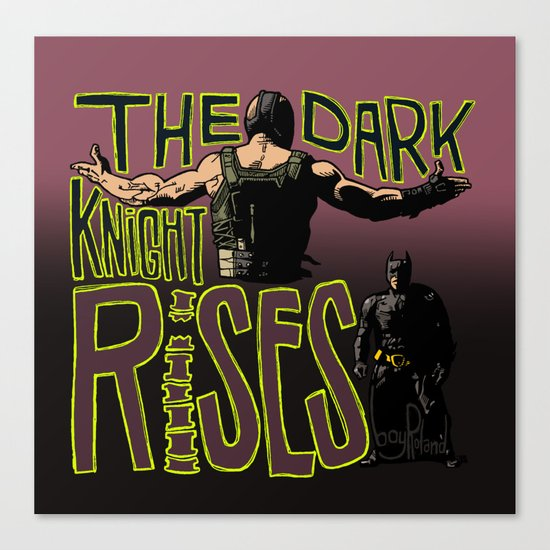 Showdown // The Dark Knight Rises Canvas Print