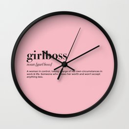 Girlboss definition Wall Clock