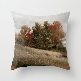 Her Autumn Meadow Throw Pillow