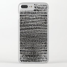 Silver Chain Maille Clear iPhone Case