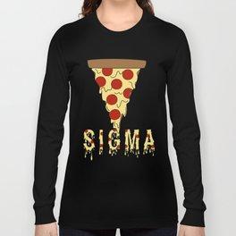 Sigma Cheesy Pizza Long Sleeve T-shirt