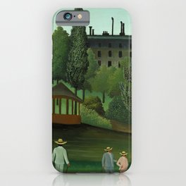 """Henri Rousseau """"View of Montsouris Park, the Kiosk"""" iPhone Case"""