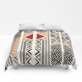 Tribal ethnic geometric pattern 034 Comforters