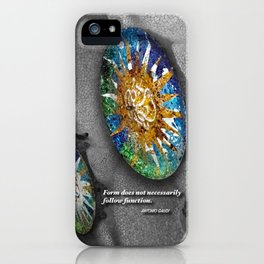 Form does not necessarily  follow function, Antonio Gaudi. iPhone Case
