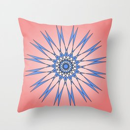 The clothespin star Throw Pillow