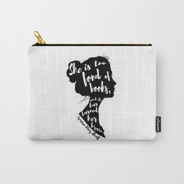 FOND OF BOOKS | LOUISA MARY ALCOTT Carry-All Pouch