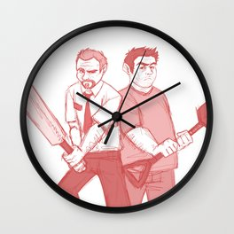 shaun of the dead Wall Clock