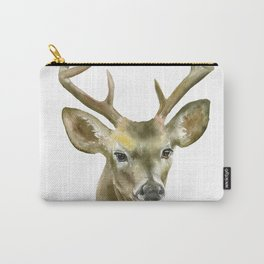 Buck Watercolor Painting Deer Fine Art Carry-All Pouch