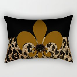 F D L Exotic Animal Print Rectangular Pillow