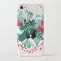 malachite iPhone & iPod Cases featuring Malachite by Rebecca Reynolds